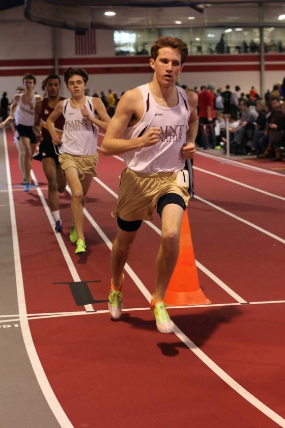 St. Iggy's Chris Korabik & Andy Weber go 1-2 in 3200m/Steven Bulgarin photo