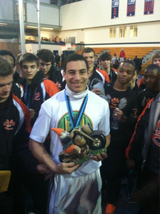 Julian Harvey of Edwardsville sets two meet & school records/Edwardsville track image
